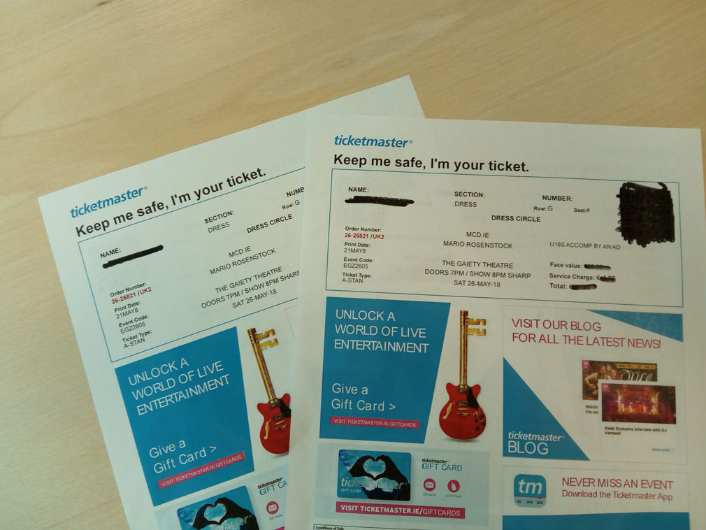 Amorys Competition 2 tickets to Mario Rosenstock Dublin